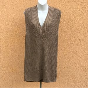 Zara V-neck Sleeveless Knit Sweater